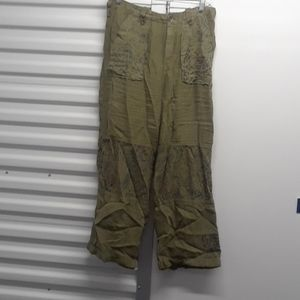 FREE PEOPLE Linen pants sz 8